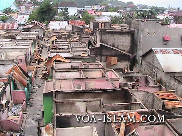 Une vue du quartier musulman de Waringin, à Ambon, dévasté par les émeutes du 11 septembre (Voice of al-Islam).