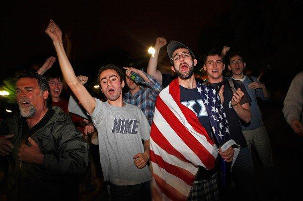 Rakyat AS merayakan Kematian Syaikh Usamah