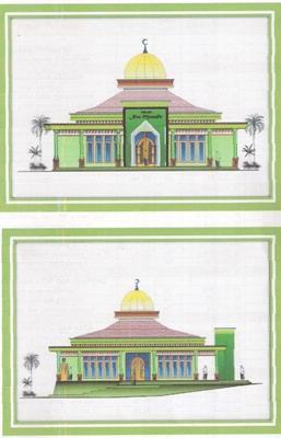 Pembangunan Masjid Nur Musafir yang berlokasi di Jl. Badak Rt. 017/007 ...