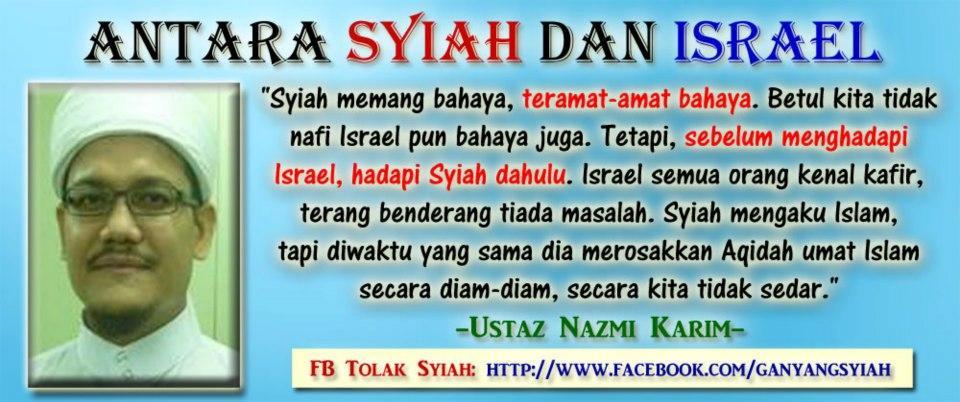 Gambar kreatif malaysia tolak syi'ah