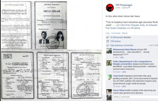 Benarkah Akta Nikah Jokowi Palsu? Ungkap Dengan Digital ...
