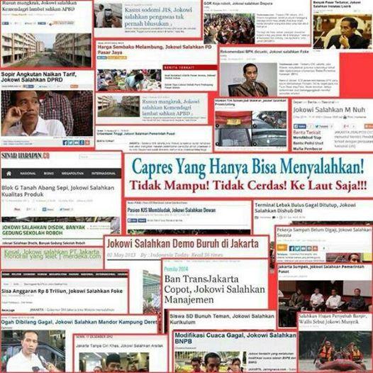 Klop! Jokowi Tak Mau Disalahkan, Simpatisannya Doyan Menyalahkan