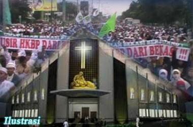 Demo Sejuta Umat Menolak Rencana Paroki Bunda Theresia Bekasi