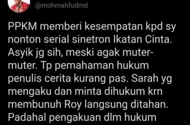 Kritik ''Cuitan'' Komunikasi Publik Mahfud MD