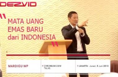 [VIDEO] Mardigu Sang Triliuner Rilis Mata Uang Emas Cyronium, Perpaduan Emas & Teknologi