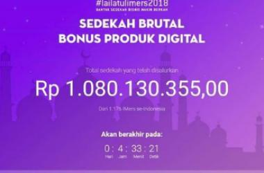 Masya Allah, Lailatulimers Sedekah Brutal Produk Digital Tembus Rp. 1 Milyar