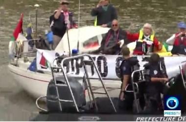 Polisi Prancis Cegah Armada Kebebasan Gaza Docking di Sungai Siena