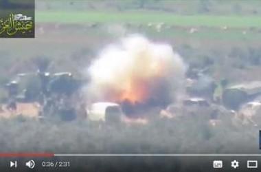 Video: Jaisyul Izzah Targetkan Perkumpulan Tentara Pro-Assad di Selatan Hama dengan Rudal TOW