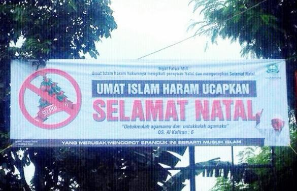 Mantan Panglima TNI Kecam Spanduk Pengharaman Natal