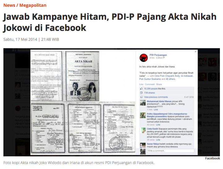 Benarkah Akta Nikah Jokowi Palsu Ungkap Dengan Digital Teknik Ela