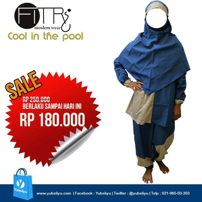 Baju Renang Muslimah Baru Hijab Swimwear SYARI Menutup